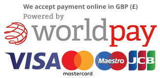 Payment Logos - Payment in GBP via Worldpay